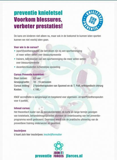 Curcus knieletsel preventie